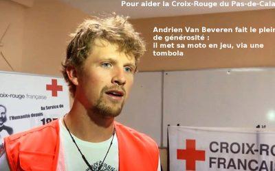 Le pilote Adrien Van Beveren fait le plein…. de générosité